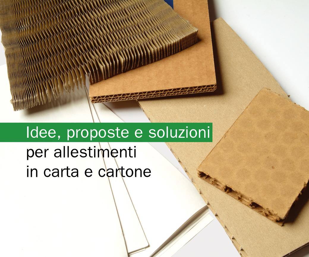 Idee proposte e soluzioni per allestimenti in carta e cartone.01.Marco Capellini