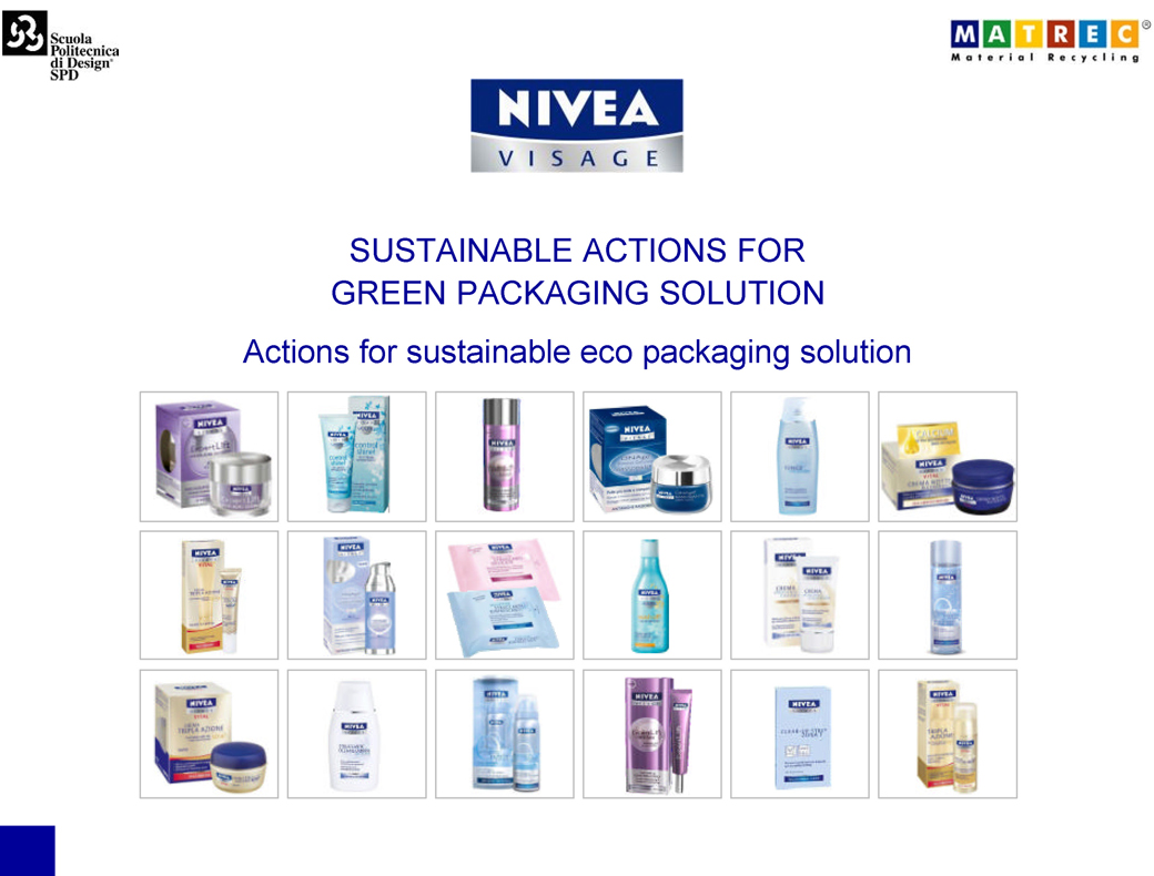 Sustainable actions for green packaging solution.01.Marco Capellini