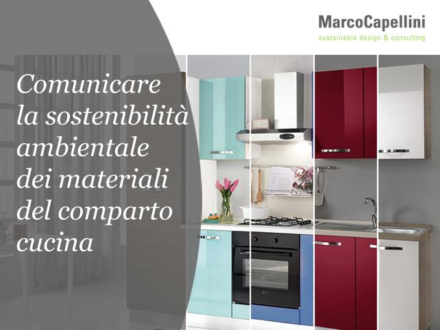 Comunicare la sostenibilit ambientale dei materiali del comparto cucina.Marco Capellini.01